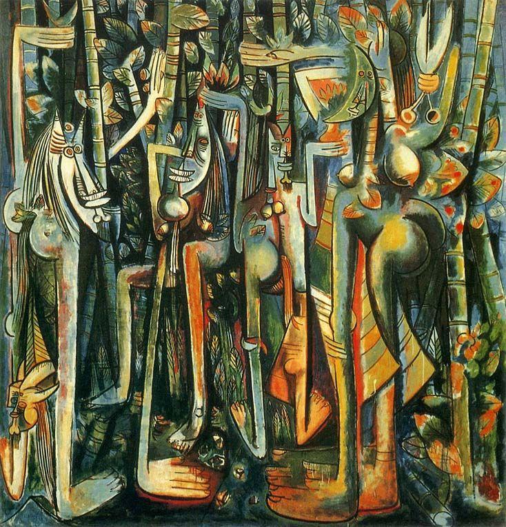 De origen asiático y africano, Lam fue criado en Cuba y de joven fue a Madrid donde se formó como pintor. Sus pinturas fundían el cubismo y el surrealismo con el más puro espíritu del caribe.
