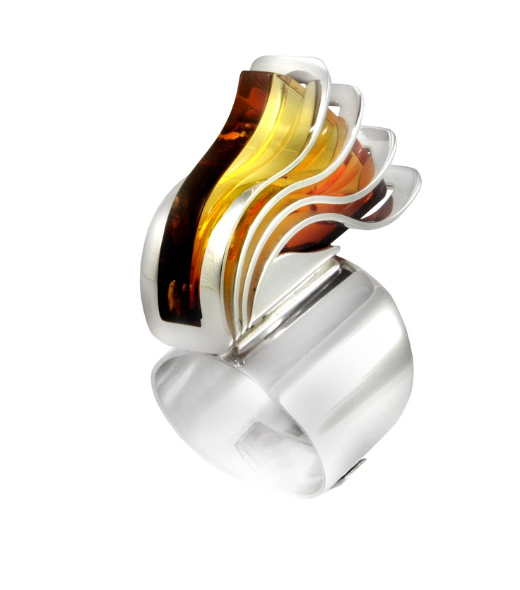 4Wave : Ring, Silver&Amber. OSTROWSKI-DESIGN 2006.