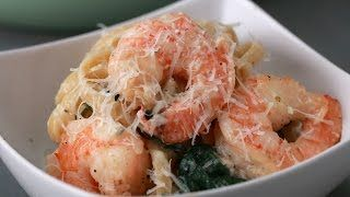 Creamy One-Pot Spinach Shrimp Pasta