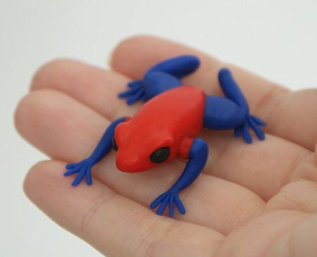 Sculpey Clay Animals | Strawberry poison-dart frogs (Dendrobates pumilio) are found in ...
