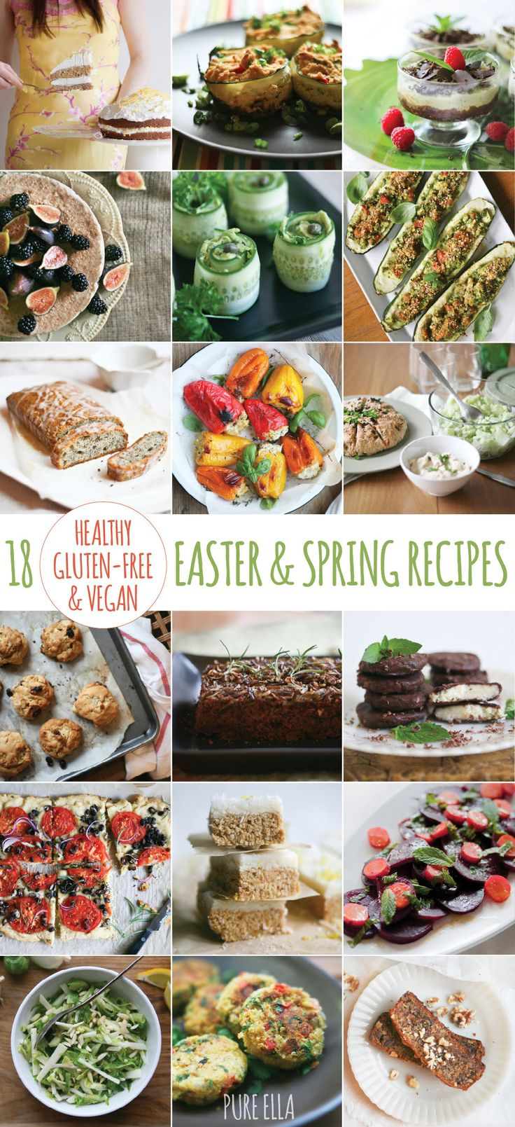 18 Healthy Gluten-free and Vegan Easter and Spring Recipes #glutenfree #dairyfree #eggfree #vegan #easter #recipes