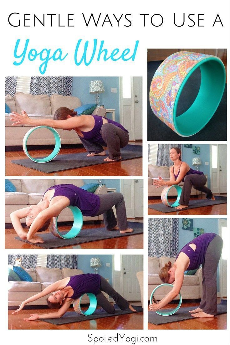 Yoga wheels are amazing yoga props—and not just for the advanced backbends and inversions you see on Instagram. Learn 5 new ways to use a yoga wheel. | Learn how to use a yoga wheel for beginners. | SpoiledYogi.com
