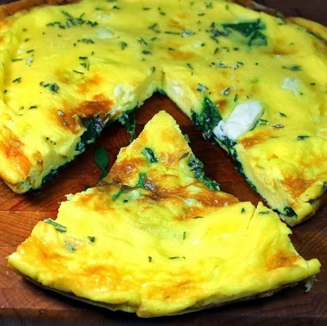 Inspired By eRecipeCards: Spinach, Feta and Herb (Greek) Frittata or ...