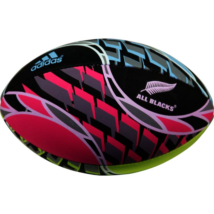 All Blacks Pink/Blue Rugby Ball - Size 4 - product image