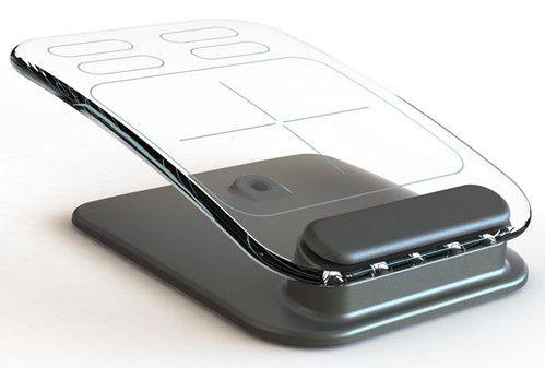 Multi-Touch, cyberpunk Transparent, futuristic, cyber, Wireless Keyboard, Wireless Mouse, fantastic, futuristic, future computer, Jason Giddings, Frustrated Total Internal Reflection, FTIR
