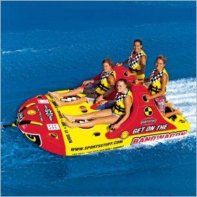 4 Person Towables, Inflatable, Water Sports, Tubes: Bandwagon 4-Person Towable Tube