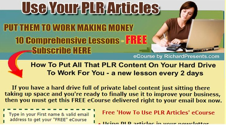 'How To Use PLR Articles' eCourse