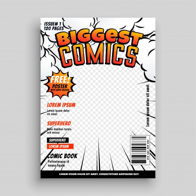 Download Comic Cover Template Design Layout For Free Book Cover