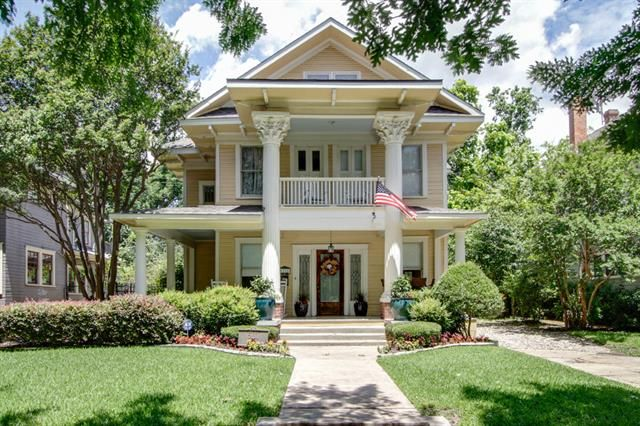 52 best dallas tx historical homes images on pinterest for Craftsman style homes for sale dallas tx