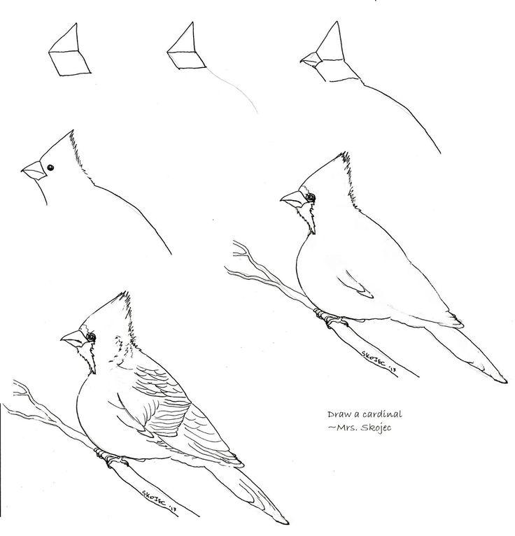 Cardinals | Art class ideas