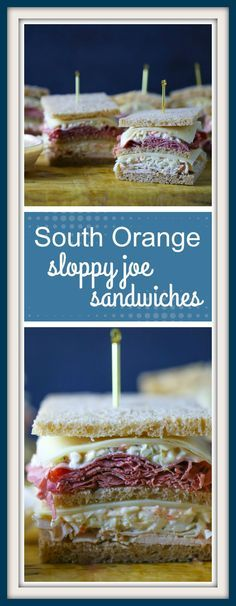 South Orange, NJ has a unique take on a sloppy joe sandwich. Layers of meat, cheese, coleslaw, Russian dressing and thinly sliced bread make it a delicious classic.
