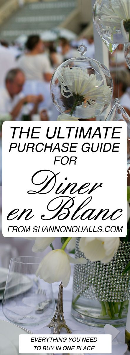 Everything you will need for Diner En Blanc listed in one place.