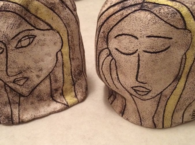 Ceramic heads.