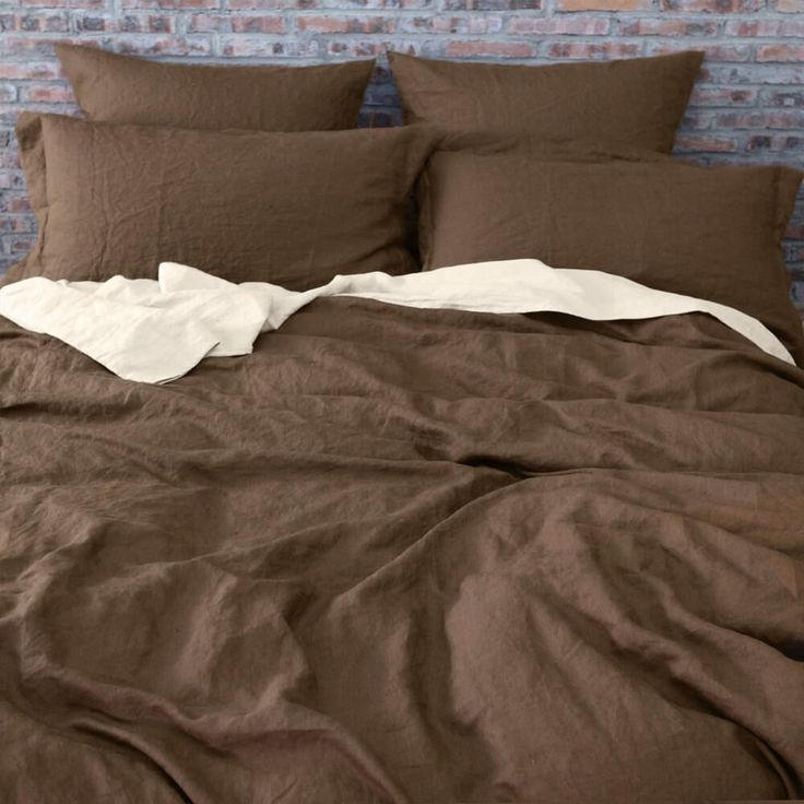 For more detail about this product please visit: https://www.linenshed.com.au/collections/duvet-cover-basic/products/linen-duvet-cover-earth-brown