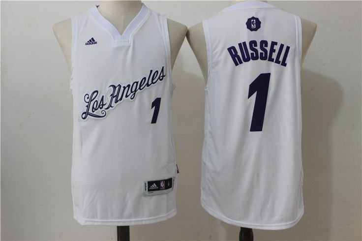 NBA Los Angeles Lakers #14 Russell adidas White 2016-2017 Christmas Day Swingman Jersey