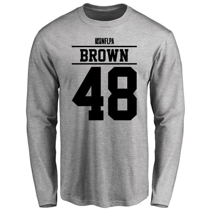 Kourtnei Brown Player Issued Long Sleeve T-Shirt - Ash