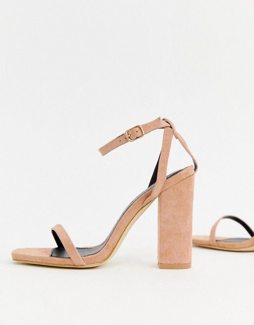 e8f26ceec14 RAID Anusha blush block heeled sandals in 2019 | Women Fashion ...