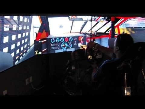 ▶ Josh Driving The Nascar Simulator at America's Car Museum - YouTube