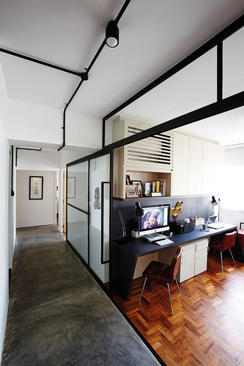 Hdb Study Room Design Ideas: Glass Sliding Door