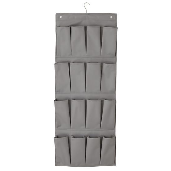 I Think I Canvas Shoe Hanger (Grey) in Closets & Hampers   The Land of Nod