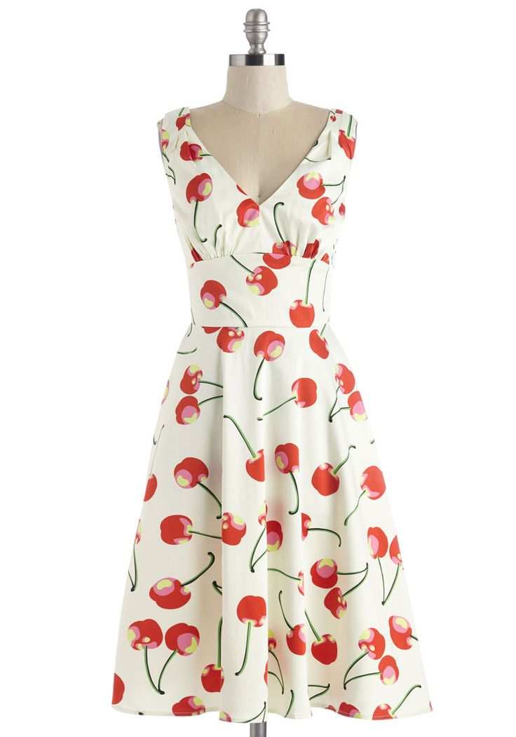 Stem Fields Dress. Pluck this ivory dress from your wardrobe and style it with a smart ensemble! #multi #modcloth