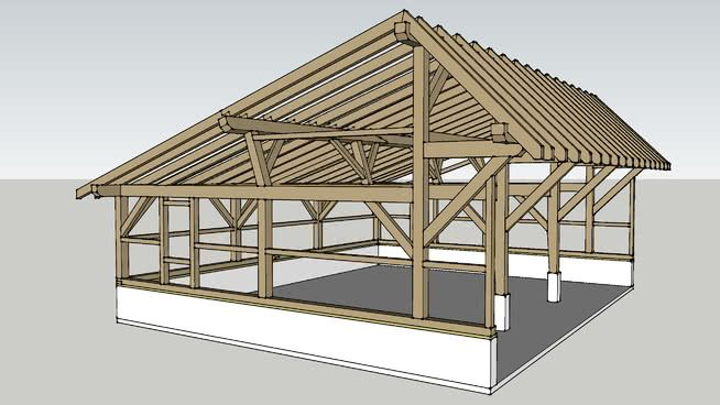 24 X 30 3 Bay Quaker Style Timber Framed Carriage Shed Carriage Shed Garage Heavy Timber Quaker Shed Timber Frame Tim Shed Timber Framing Timber Frame