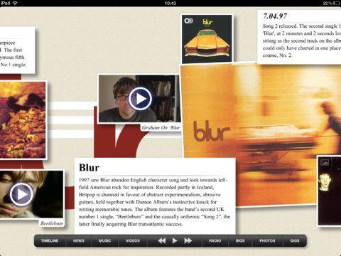 The Blur app: el brit pop ahora en tu iOS