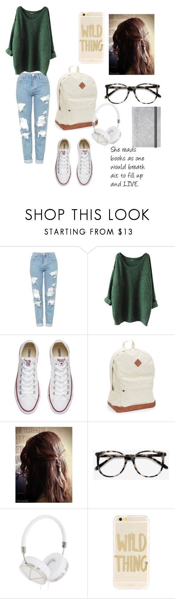 Bookwarm by butterfly-18 on Polyvore featuring Topshop, Converse, Aéropostale, Sonix, Frends and Ace
