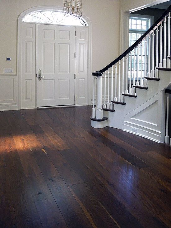 Thinking about dark wood floors in my kitchen/living room/hallway is my next project...