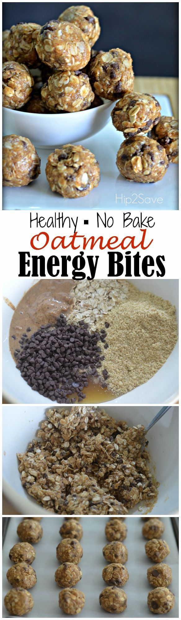 Oatmeal Energy Bites (Easy No-Bake Snack) – Hip2Save . Dates and date syrup instead of honey.