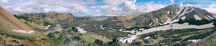 Islandia dzień 5 (cz.1)- Góry tęczowe Landmannalaugar- wspinaczka na wulkan.