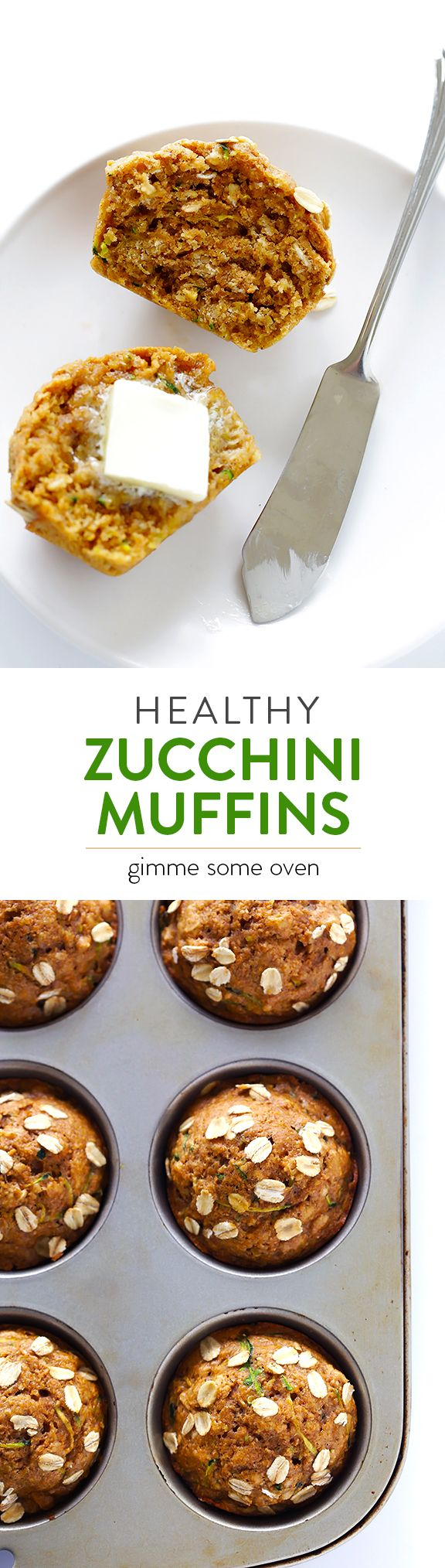 Healthy Zucchini Muffins -- naturally sweetened with maple syrup, and SO incredibly good! | gimmesomeoven.com