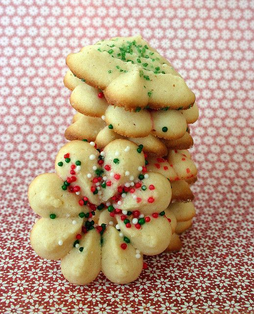 Cream Cheese Spritz Cookies -- these are ridiculously addictive!