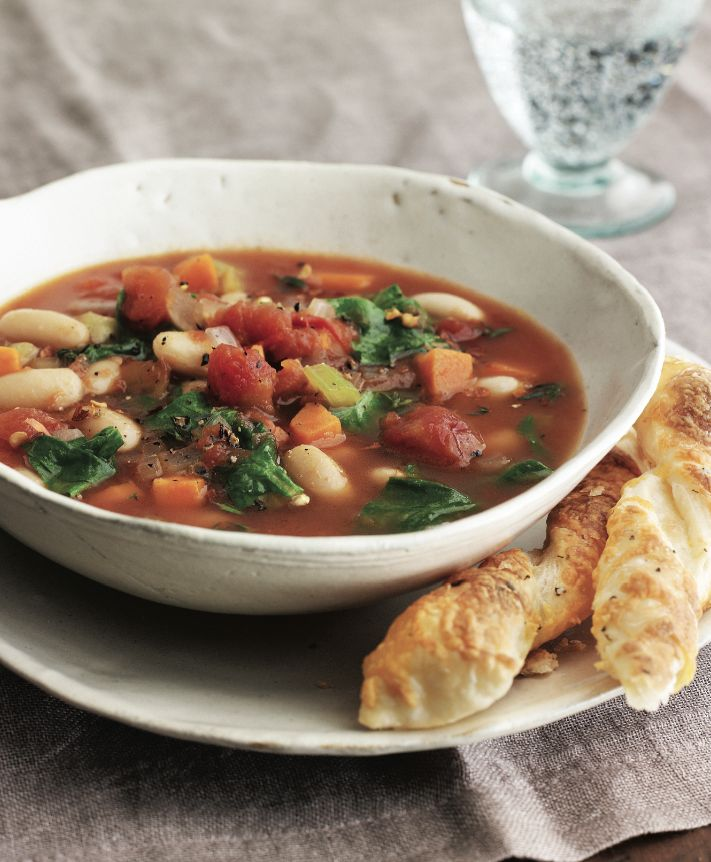 country spinach tomato and white bean soup delicious added leeks and a ...