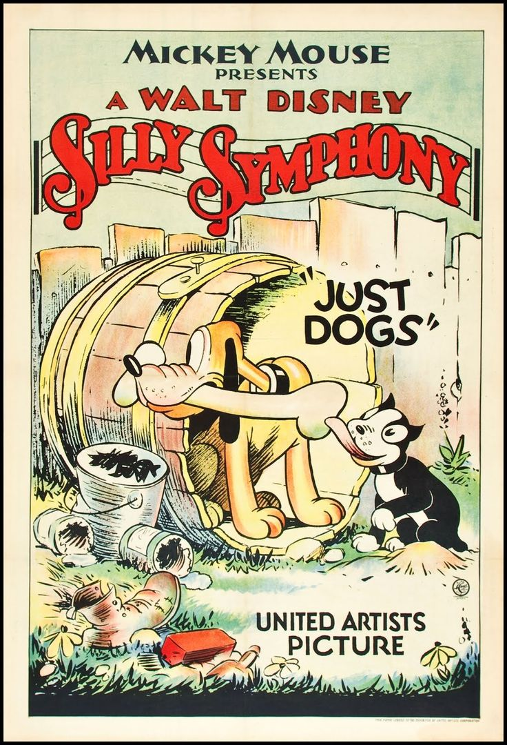 """Just Dogs, ©1932 Walt Disney. From the blog: """"Fantasy Ink: D is for Dog""""."""