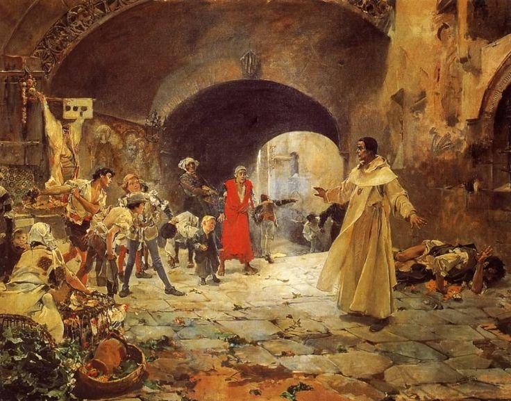 Joaquín Sorolla y Bastida  (1863-1923) ,pintor español.   Escena histórica. 1883.      El grito de Palleter. 1884.      Muerte de Pedro Vel...