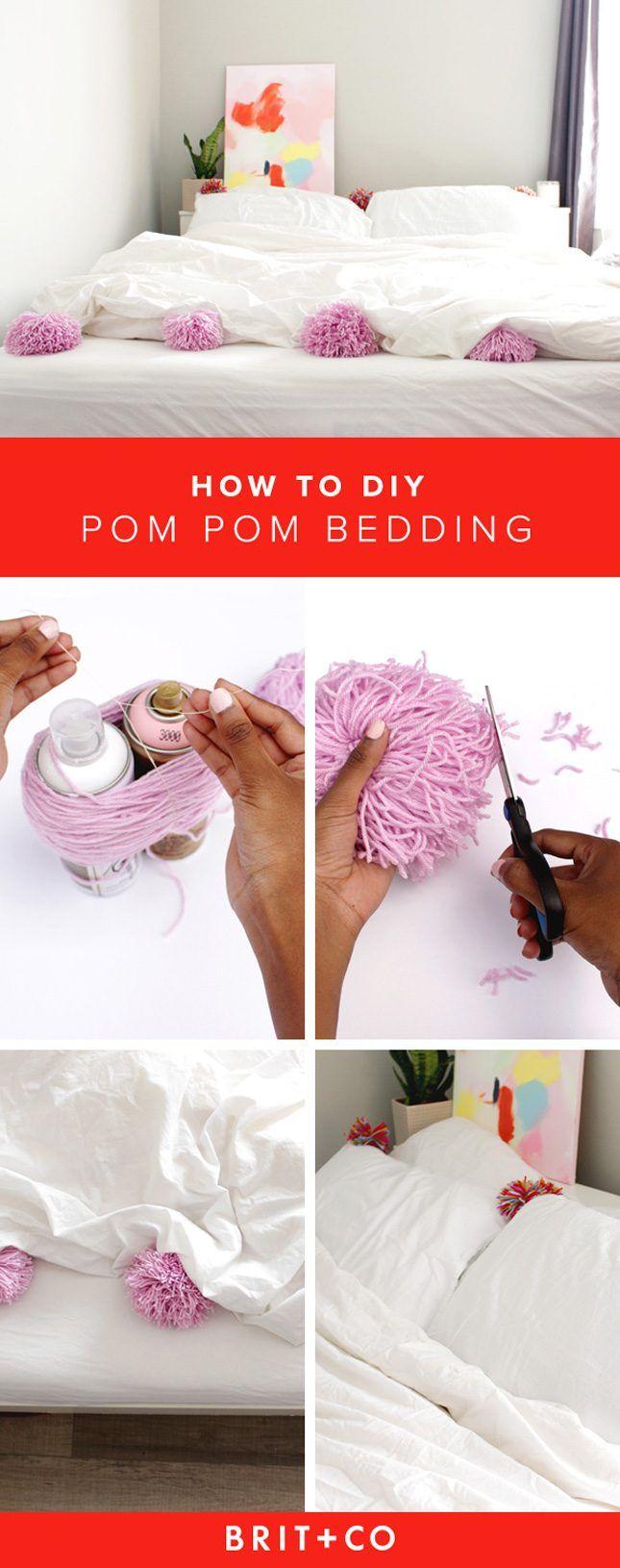 how to make a t shirt pom pom pillow