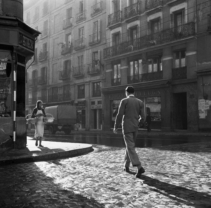 calle mayor, madrid, spain, 1954-56 photo by cas oorthuys