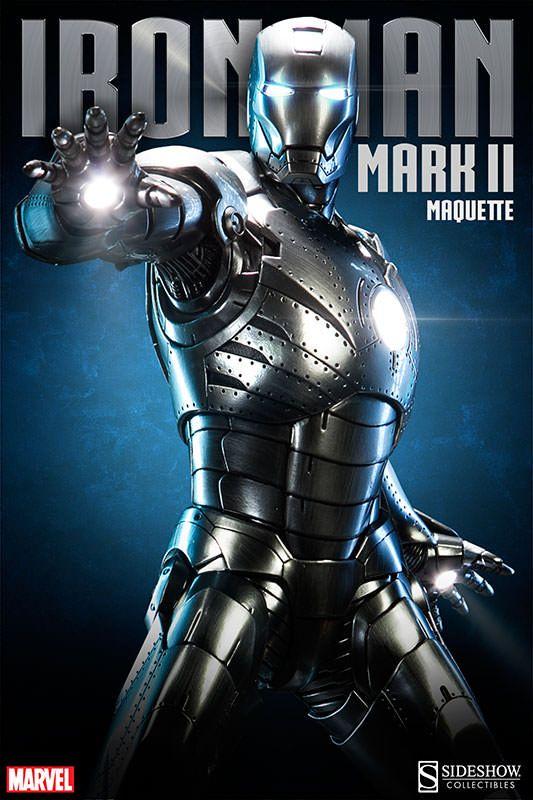 ToyzMag.com » Iron Man Mark II Quarter Scale Maquette par Sideshow Collectibles