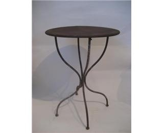 cafe style round metal side table