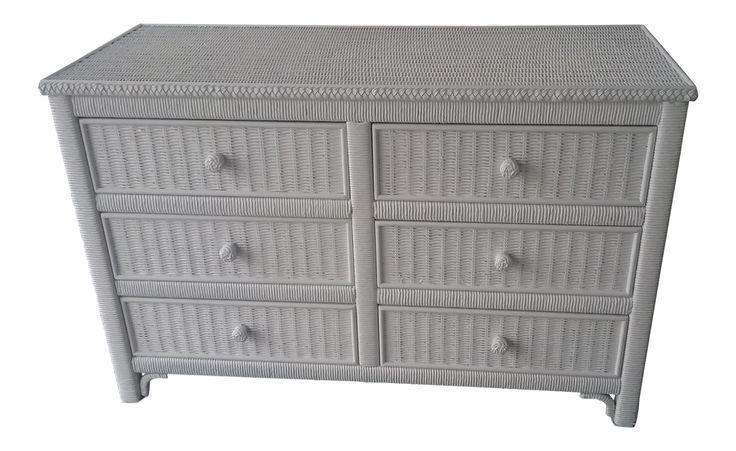 Henry Link Hali Bai Collection Wicker Dresser on Chairish.com