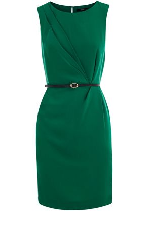 Green, classy beautiful dress with black belt. Please someone get this for me =(