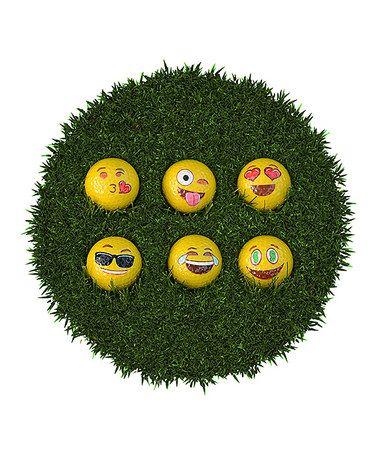 Look what I found on #zulily! Emoji Golf Ball - Set of 12 #zulilyfinds