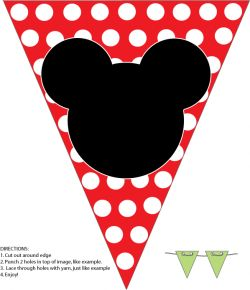 free mickey mouse christmas printables | Mickey Banner, Mickey Mouse, Party Decorations - Free Printable Ideas ...