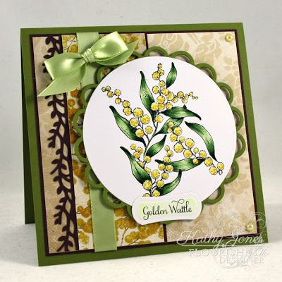 Inspired to Stamp: BWT - Flowers of Our Country!