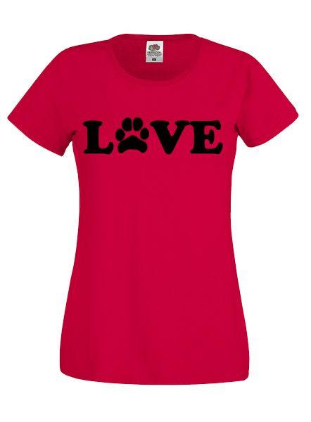 Love Feliratos Tappancsos Női Póló-Több színben