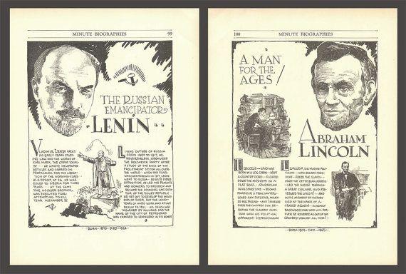 Abraham Lincoln Art Lenin Art Print Art History by DigitalArtLand