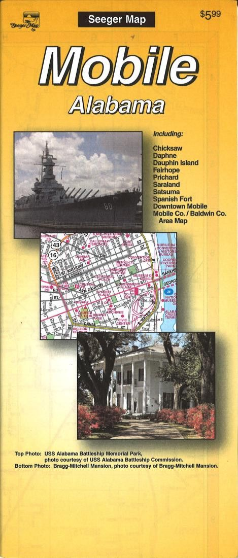 Mobile, Alabama by The Seeger Map Company Inc.
