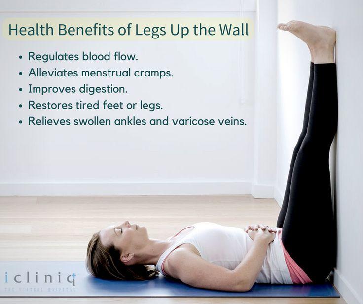 Benefits of Legs Up the Wall Pose.. #yoga #yogaforhealth ...