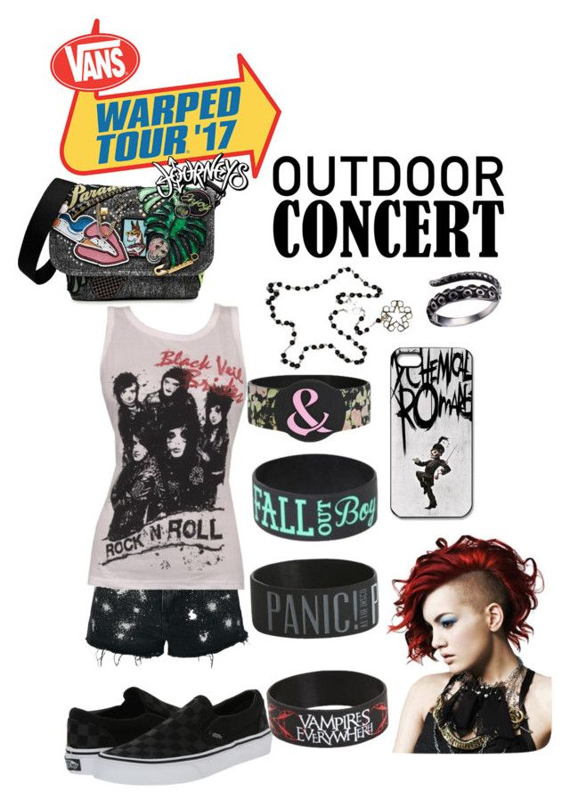 """""""Vans Warped Tour 2017"""" by kickchickie on Polyvore featuring Marc Jacobs, Topshop, Vans, Hot Topic, 60secondstyle and outdoorconcerts"""